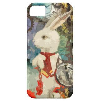 Conejo del blanco del país de las maravillas de iPhone 5 carcasa
