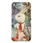 Conejo del blanco del país de las maravillas de funda de iPhone 6 barely there