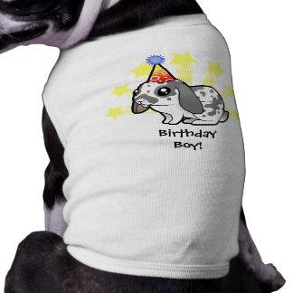 Conejo del cumpleaños (pelo liso del oído flojo) playera sin mangas para perro