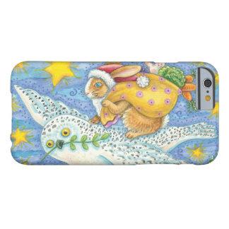 Conejo del dibujo animado como Papá Noel y búho Funda De iPhone 6 Barely There