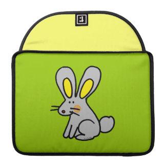 conejo del dibujo animado funda para macbooks