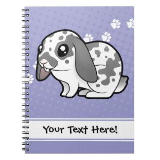 Conejo del dibujo animado (pelo liso del oído floj notebook
