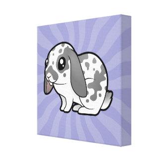Conejo del dibujo animado (pelo liso del oído floj impresiones en lienzo estiradas
