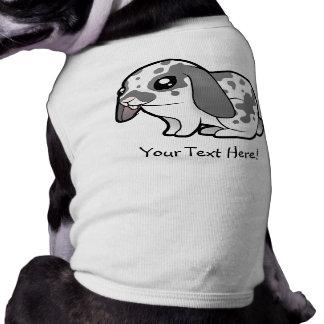 Conejo del dibujo animado (pelo liso del oído floj playera sin mangas para perro
