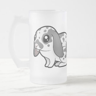 Conejo del dibujo animado (pelo liso del oído taza de cristal