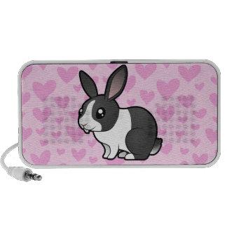 Conejo del dibujo animado (pelo liso del oído uppy altavoces de viaje
