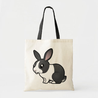 Conejo del dibujo animado (pelo liso del oído uppy bolsa tela barata