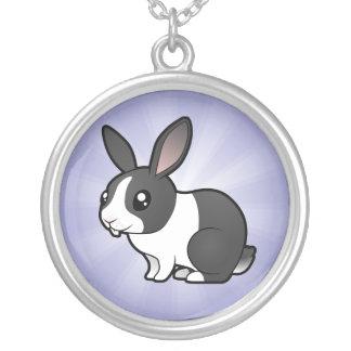 Conejo del dibujo animado (pelo liso del oído uppy colgante redondo
