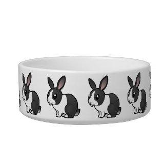 Conejo del dibujo animado (pelo liso del oído uppy tazones para gatos