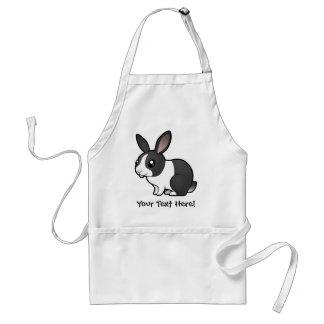 Conejo del dibujo animado (pelo liso del oído uppy delantal