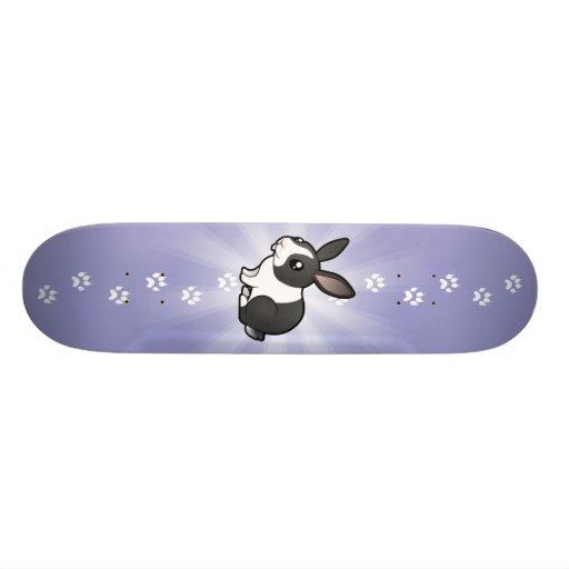 Conejo del dibujo animado (pelo liso del oído uppy patineta personalizada