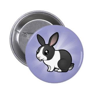 Conejo del dibujo animado (pelo liso del oído uppy pin