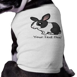 Conejo del dibujo animado (pelo liso del oído uppy playera sin mangas para perro