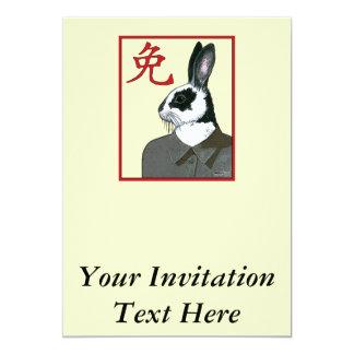 """Conejo del fiesta invitación 5"""" x 7"""""""