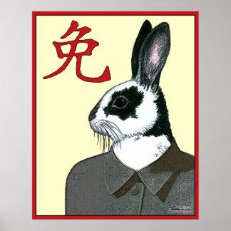 Conejo del fiesta póster