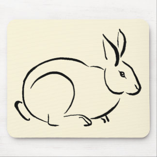 Conejo del movimiento del cepillo tapete de ratón