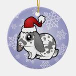 Conejo del navidad (pelo liso del oído flojo) ornaments para arbol de navidad