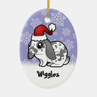 Conejo del navidad (pelo liso del oído flojo) adorno para reyes