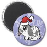 Conejo del navidad (pelo liso del oído flojo) imán para frigorífico