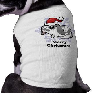 Conejo del navidad (pelo liso del oído flojo) playera sin mangas para perro