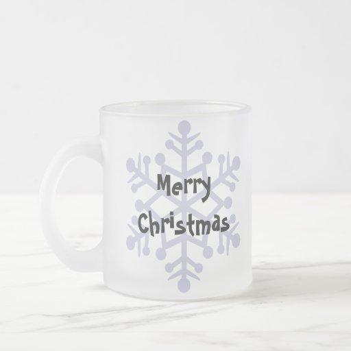 Conejo del navidad (pelo liso del oído flojo) taza cristal mate
