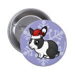 Conejo del navidad (pelo liso del oído uppy) pin