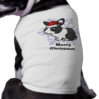 Conejo del navidad (pelo liso del oído uppy) playera sin mangas para perro