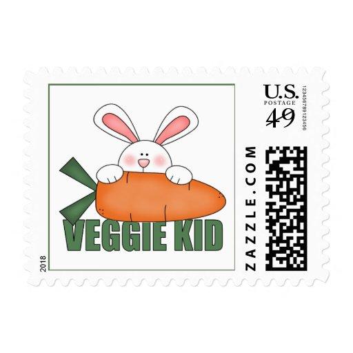Conejo del niño del Veggie Sello