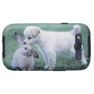 Conejo del perrito y del oído del Lop en césped Galaxy S3 Protectores