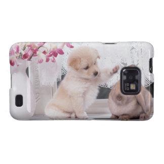 Conejo del perrito y del oído del Lop Galaxy S2 Cobertura