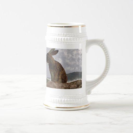 Conejo después de una tormenta de la primavera taza de café