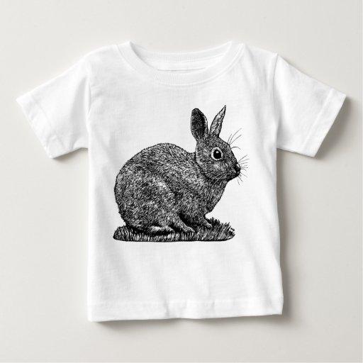 Conejo - dibujo del estilo de la pluma y de la polera