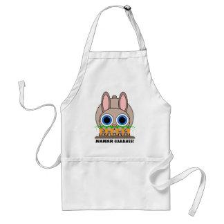 conejo divertido delantal