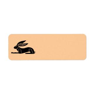 Conejo egipcio etiquetas de remite