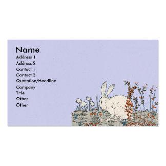 Conejo elegante del blanco del vintage plantillas de tarjetas personales