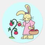 Conejo en camisetas y regalos del jardín del tomat pegatinas