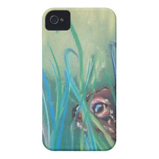 conejo en hierba iPhone 4 Case-Mate cárcasas