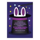 Conejo en invitaciones mágicas de una demostración invitación 12,7 x 17,8 cm