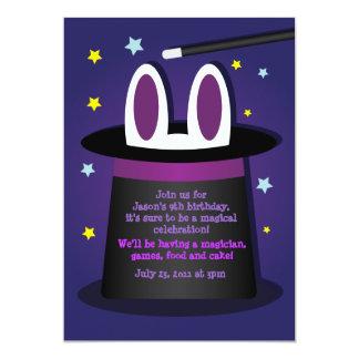 """Conejo en invitaciones mágicas de una demostración invitación 5"""" x 7"""""""