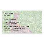 Conejo en la hierba tarjeta de visita