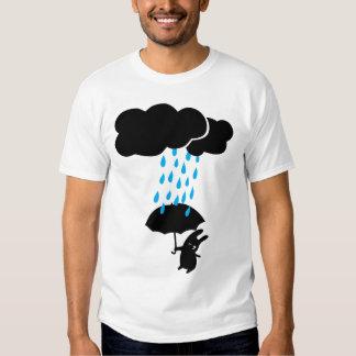 Conejo en la lluvia playera