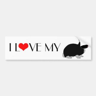 Conejo enano de Netherland Etiqueta De Parachoque