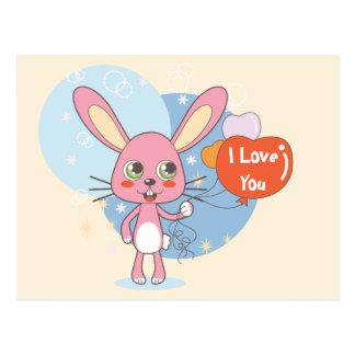Conejo encantador postal