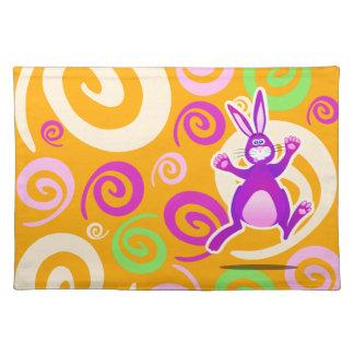 Conejo enrrollado, placemat manteles individuales