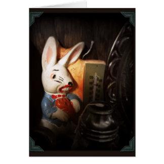 Conejo espeluznante tarjeta de felicitación