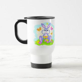 Conejo feliz del dibujo animado de las flores de m