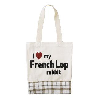 Conejo francés del Lop Bolsa Tote Zazzle HEART