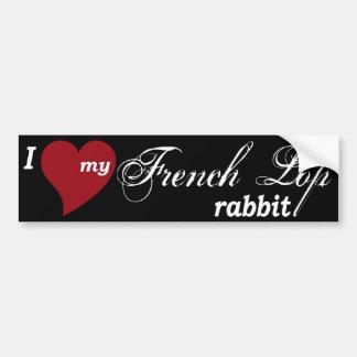 Conejo francés del Lop Pegatina Para Auto