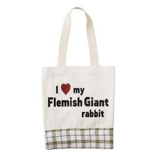 Conejo gigante flamenco bolsa tote zazzle HEART