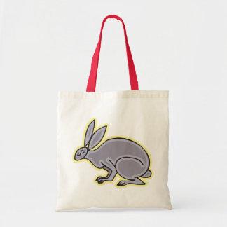 Conejo gris bolsa de mano